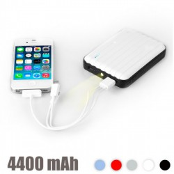 Power Bank USB avec LED 4400 mAh