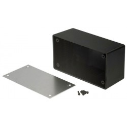 Desktop enclosure noir 101 x 54 x 41.7 mm ABS, RND 455-00101