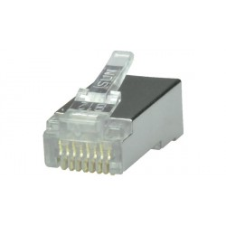 Pack de 10 fiches RJ45 Cat.6 blindé, 6MP8P8C50B5S2 Maxxtro