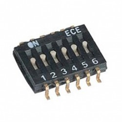 Dip switch CMS 8 points pas 1.27mm
