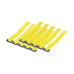 Attache cable velcro 300 x 20 mm jaune pack de 10