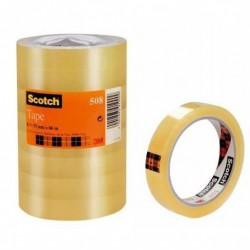 3M Scotch Ruban adhésif 508 transparent 19 mm x 66 m 8 rlx