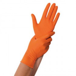Gant en nitrile POWER GRIP M, orange 50 pièces